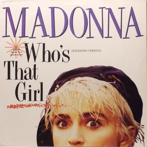 vinyl LP MADONNA Who's That Girl (clear vinyl )