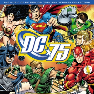 vinyl LP VARIOUS ARTISTS THE MUSIC OF DC COMICS - 75TH ANNIVERSARY COLLECTION (Blue vinyl)