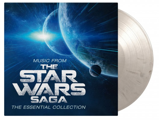 vinyl 2LP Music From the STAR WARS SAGA -The Essential Collection (white & black marbled vinyl)