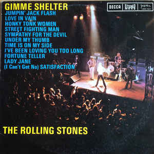 vinyl LP THE ROLLING STONES Gimme Shelter