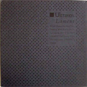 vinyl 2LP ULTRAVOX Lament
