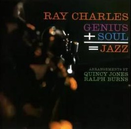 vinyl LP RAY CHARLES Genius + Soul = Jazz