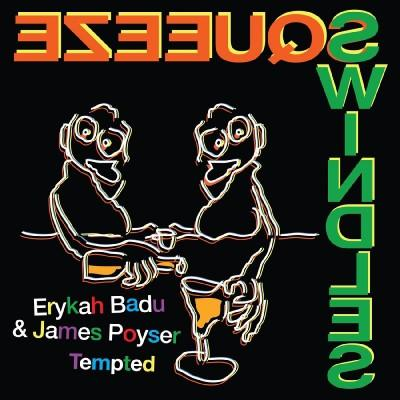 "vinyl 7""SP singel ERYKAH BADU & JAMES POYSER Tempted"