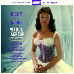 vinyl LP WANDA JACKSON Right or Wrong