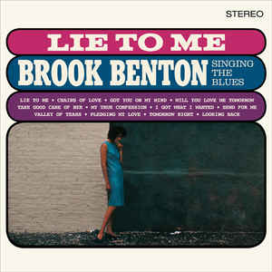 vinyl LP BROOK BENTON Lie To Me: Brook Benton Singing the Blues