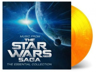vinyl 2LP Music From the STAR WARS SAGA -The Essential Collection (flaming vinyl)