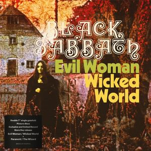 "vinyl 2x7"" Black Sabbath Evil Woman / Wicked World & Paranoid / The Wizard"
