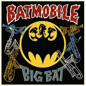 "vinyl 10"" BATMOBILE BIG BAT"