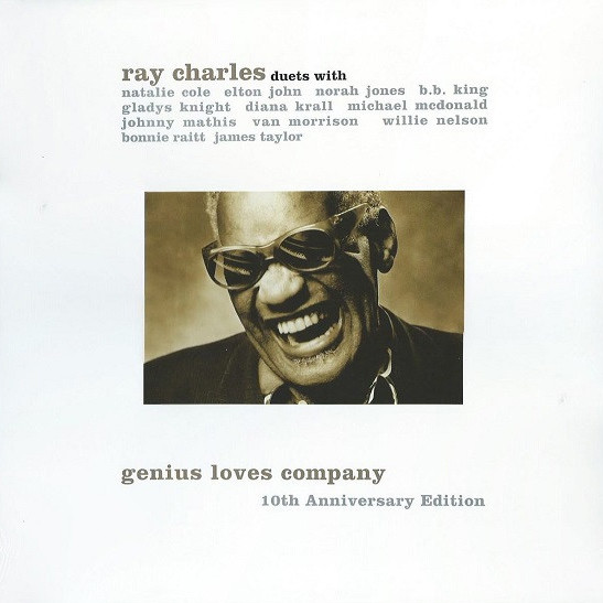 vinyl 2LP RAY CHARLES GENIUS LOVES COMPANY - 10TH ANNIVERSARY EDITIONS