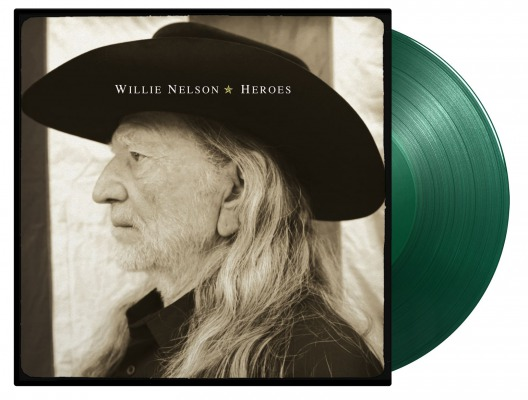 vinyl 2LP WILLIE NELSON HEROES (Solid green vinyl)