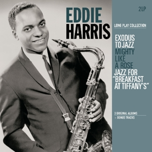 vinyl 2LP EDDIE HARRIS  Long Play Collection (Exodus To Jazz / Mighty Like A Rose / Jazz For Breakfast At Tiffany's)