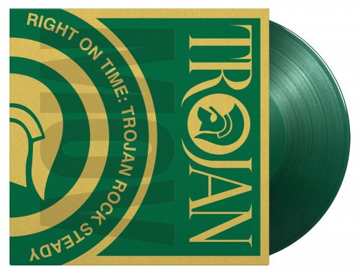 vinyl 2LP VARIOUS ARTISTS RIGHT ON TIME - TROJAN ROCK STEADY (Translucent green vinyl)