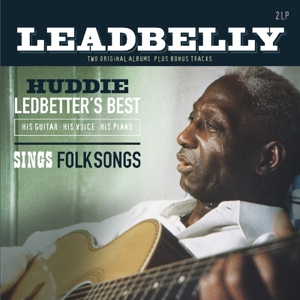 vinyl 2LP Leadbelly ‎Huddie Ledbetter's Best - His Guitars His Voice His Piano & Sings Folksongs
