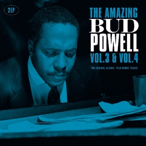 vinyl 2LP Bud Powell ‎The Amazing Bud Powell, Vol. 3 & Vol. 4 Two Original Albums Plus Bonus Tracks