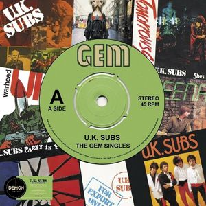 vinyl LP U.K. Subs The Gem Singles