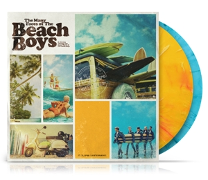 vinyl 2LP V/A Many Faces of The Beach Boys (Yellow/Blue Transparent Marbled Vinyl)