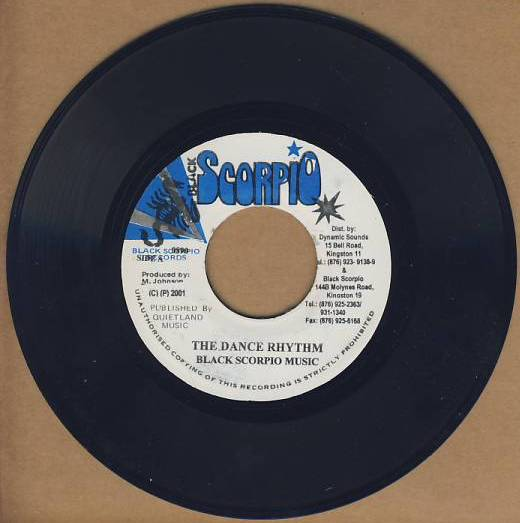 "vinyl 7""SP BLACK SCORPIO MUSIC The Dance Rhythm"