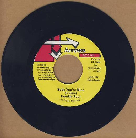 "vinyl 7""SP FRANKIE PAUL Baby You´re Mine"