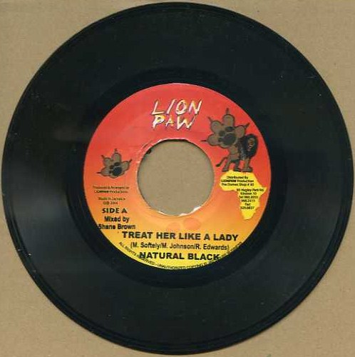 "vinyl 7""SP NATURAL BLACK Treat Her Like A Lady"