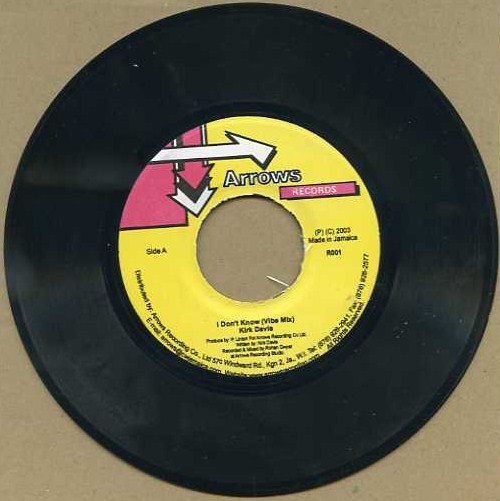 "vinyl 7""SP KIRK DAVIS I Don´t Know"