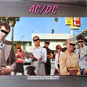 vinyl LP AC/DC Dirty Deeds Done Dirt Cheap