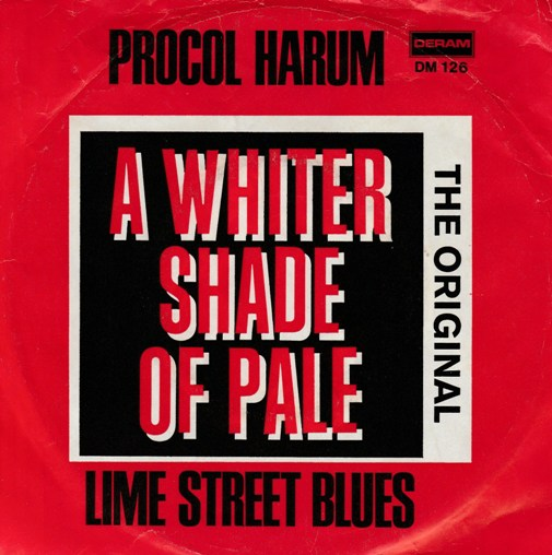 "vinyl 7""SP PROTOCOL HARUM A Whiter Shade Of Pale"