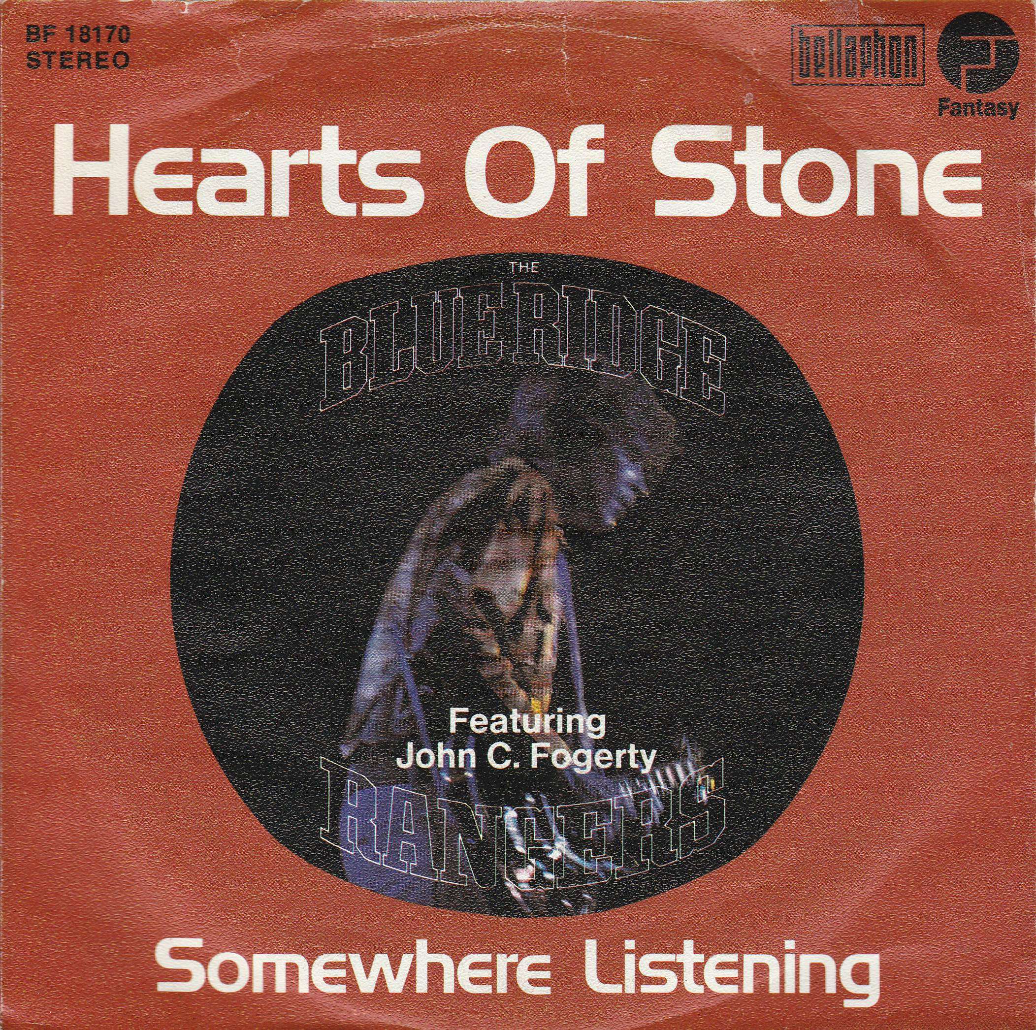 "vinyl 7""SP BLUE RIDGE RANGERS Hearts Of Stone"