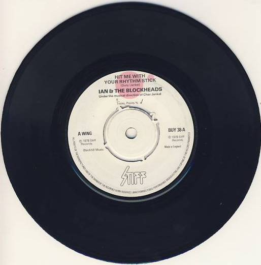 "vinyl 7""SP IAN DURY and THE BLOCKHEADS  - Hit Me With Your Rhythm Stick"