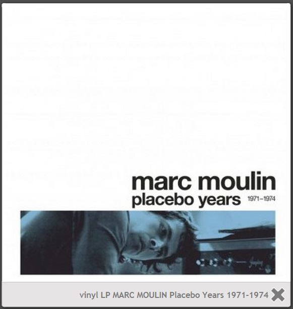 vinyl LP MARC MOULIN Placebo Years 1971-1974