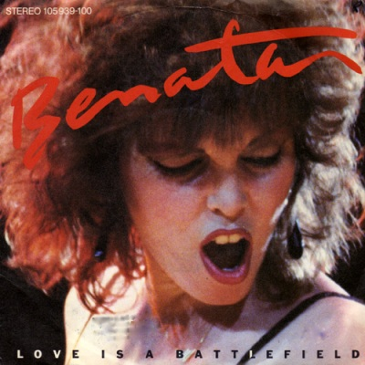 "vinyl 7""SP PAT BENATAR Life Is A Battlefield"
