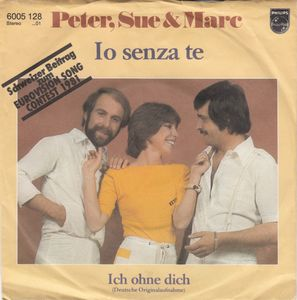 "vinyl 7""SP PETER, SUE & MARC Io Senza Te"