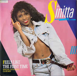 "vinyl 12"" maxi SP SINITTA Feels Like The First Time"