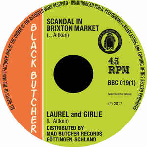 "vinyl 7"" SP LAUREL and GIRLIE Scandal In Brixton Market/Soul Jerker"