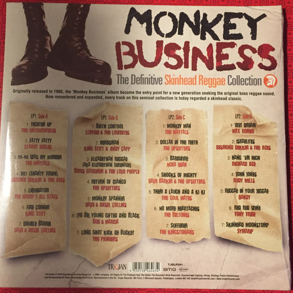 vinyl 2LP MONKEY BUSINESS The Definitive Skinhead Reggae Collection