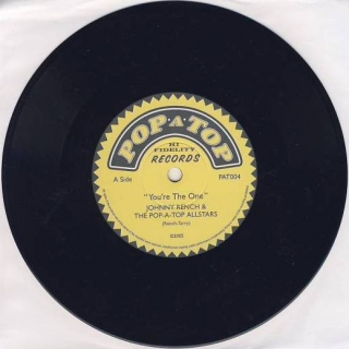 "vinyl 7""SP JOHNNY RENCH and THE POP-A-TOP ALLSTARS  You´re The One"