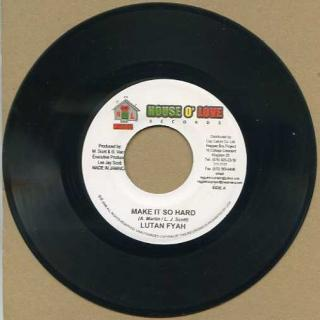 "vinyl 7""SP LUTAN FYAH Make It So Hard"