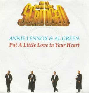 "vinyl 7""SP ANNIE LENOX & AL GREEN Put A Little Love In Your Heart"
