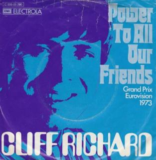 "vinyl 7""SP CLIFF RICHARD Power To All Our Friends"