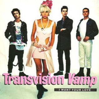 "vinyl 7""SP TRANSVISION VAMP I Want Your Love"