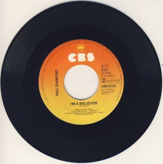 "vinyl 7""SP NEIL DIAMOND - I´m A Beleiver"