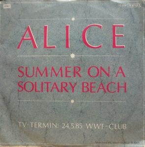 "vinyl 7""SP ALICE Summer On A Solitary Beach"