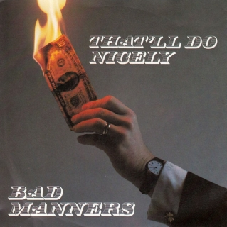 "vinyl 12""maxi SP BAD MANNERS - That´ll Do Nicely"