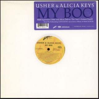 "vinyl 12"" maxi SP USHER and ALICIA KEYS My Boo"