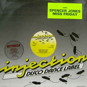 "vinyl 12"" maxi SP SPENCER JONES Miss Friday"