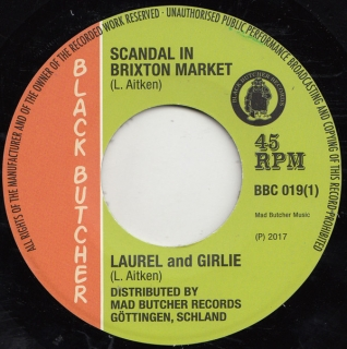 "vinyl 7""SP LAUREL AITKEN and GIRLIE Scandal In Brixton Market/Soul Jerker"